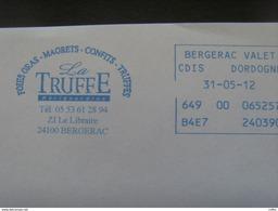 13020-1- EMA Bergerac Valette CDIS (Dordogne) Thème Champignon, Truffe, Sur Enveloppe à En-tête Idem - Pilze