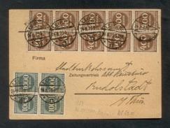 DR 1923, Inflation, Postkarte, Mi. # 271 (10x) Und 273 (4x)  Gute Erhaltung. Geprüft: Einwandfrei Infla Berlin - Oblitérés
