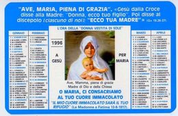 Calendarietto - L'ora Della Donna Vestita Di Sole 1996 - Calendari