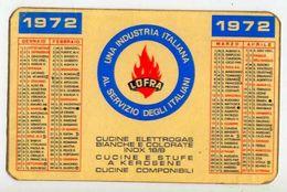 Calendarietto - Lofra - Una Industria Italiana - Al Servizio Defgli Italiani - Treponti Di Teolo - Padova 1972 - Calendari