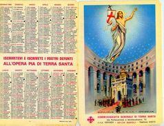 Calendarietto - Opera Santa Pia Di Terra Santa 1986 - Formato Piccolo : 1981-90