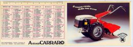 Calendarietto - Trattori - Antonio Carraro - Campodarsego - Padova -1985 - Formato Piccolo : 1981-90