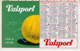 Calendarietto - Valsport - Palloni E Calzature Per Tutti Gli Sport 1958 - Calendari