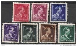 Nrs 690/696 Xx  S M  Le Roi Leopold 3/Z M Koning Leopold 3 - 1936-1957 Collar Abierto