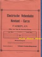 Affiche Ancienne De 1912 - Ligne De Chemin De Fer NOVEANT GORZE Par METZ - Moselle Train Bahn Eisenbahn Thionville - France