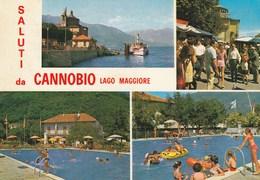 6950.   Saluti Da Canobbio - Lago Maggiore - Vedutine - Autres Villes