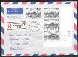 1991 Sweden Kristiansand Registered (05.10.91) To Wein Austria - Sweden