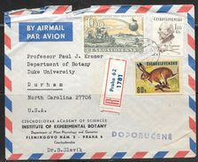1968 Czechoslovakia Registered Praha (7.VII.66) To USA With Backstamps - Czechoslovakia