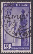 Trieste Allied Military Government S 44  1949 European Recovery Plan 15 L Used - 7. Trieste