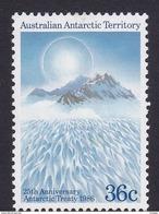 Australian Antarctic Territory  ASC 72 1986 25th Anniversary Of The Antarctic Treatu 36c Mountains MNH - Unused Stamps