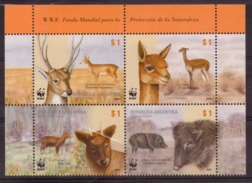 Argentina - 2002 - WWF - Mammifères Sud-américains - Venado De Las Pampas - Pudú - Vicuña - Chancho Quimilero - Neufs