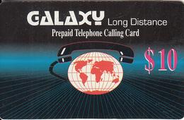 PUERTO RICO - World Map, Galaxy Prepaid Card(paper) $10, Used - Puerto Rico