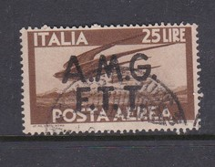 Trieste Allied Military Government Air Mail A 5 1947 Definitive 25 L Brown Used - 7. Trieste
