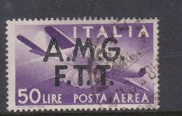 Trieste Allied Military Government Air Mail A 6 1947 Definitive 50 L Violet Used - 7. Trieste