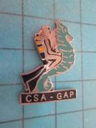 PIN715C Pin's Pins / SPORTS : PLONGEE SOUS MARINE HOMME-GRENOUILLE HIPPOCAMPE GAP  Rare Et De Belle Qualité !! - Diving