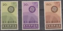 -  CYPRUS - 1967 Europa. Scott 297-299. MNH ** - Cyprus (Republic)