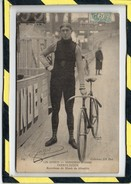 LES SPORTS. - . SPRINTERS SUISSES - DOERFLINGER. RECORDMAN DU MONDE DU KILOMETRE. CIRCULEE EN 1906 - Cyclisme