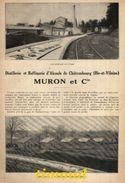MURON ET Cie / DISTILLERIE / CHATEAUBOURG + CONFITURERIE D' ARVOR / LORIN / MESSAC / ILLE ET VILAINE / ARTICLE PUB  1925 - Old Paper