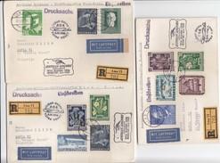 Autriche - Premier Vol AUA - Wien - Beograd - Sofia - 6.4.1959 - 3 R-lettres (scan) - Primi Voli AUA