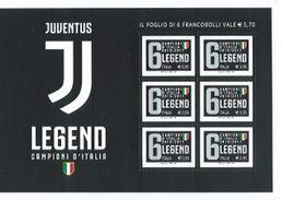 BFJU17 - Foglietto Di 6 V. Juventus Campione 2017 - Italia - Club Mitici