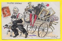 CPA Président Armand FALLIERES DEMENAGE ( Charette Trésor Présidentiel ) 1913 - Political Parties & Elections