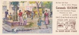 AC - B2656- Caramels ISICREM ( Non Utilisé) - Buvards, Protège-cahiers Illustrés