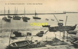 44 La Turballe, Le Port Vers Les Phares, Belle Carte - La Turballe