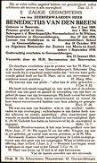 Priester,Abbe, Benedictus Van Den Breen, Baasrode, Geraardsbergen, Geeraardsbergen, 1943 - Religion & Esotérisme