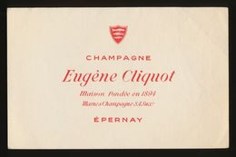 Buvard - CHAMPAGNE - EUGENE CLIQUOT - Buvards, Protège-cahiers Illustrés