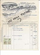 21 - Côte-d'or - ARNAY-LE-DUC - Facture MENEVEAUX - Huilerie Alimentaire - Minoterie - 1923 - REF 71A - France