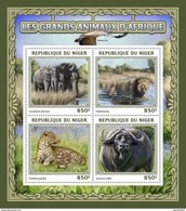 NIGER 2016 SHEET BIG AFRICAN ANIMALS ELEPHANTS BUFFALOES WILD CATS FELINES FELINS FELINOS ELEFANTES WILDLIFE Nig16501a - Niger (1960-...)