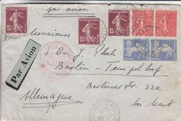 France - Lettre Avion De 1932 - Oblit La Ville Aux Clercs - Exp Vers Berlin - Avec Cachet Rouge - - Covers & Documents