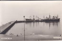 SAUDI ARABIA--RARE--jeddah Sea Port--munistry Of Information--carte Photo--voir 2 Scans - Saudi Arabia