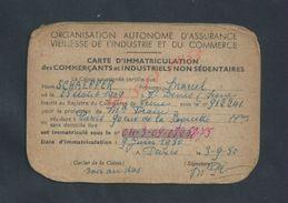 CARTE DE COMMERCANT DE SCHAEFFER MARCEL NÉ A SAINT DENIS 1909 PROFESSION FORAIN RESIDANT A PARIS RUE ROQUETTE : - Cartes