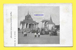 CPA CAMBODGE - PNOM-PENH - Pagode Royale Belle Animation ( PRECURSEUR ) - Cambodge