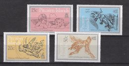 EDY 475 - PITCAIRN 1980 , Quattro Valori Integri  ***  NATALE CHRISTMAS - Pitcairn