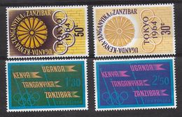 EDY 480 - KENYA UGANDA TANGANYKA 1964 , 4 Valori Integri  ***  TOKYO - Verano 1964: Tokio