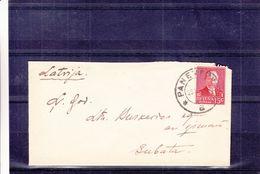 Lituanie - Lettre De 1935 - Oblit Panevezys - Exp Vers Subata - Lithuania