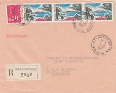 Env Reco Affr Y&T 1646 X 3 + 1664 Obl HARSKIRCHEN Du 7.5.1971 Adressée à Strasbourg - Marcophilie (Lettres)