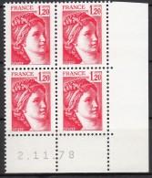 N° 1974 - X X - Daté 02/11/78 - Esquina Con Fecha