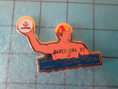 Pin915c Pin's Pins / SPORTS / WATER-POLO JEUX OLYMPIQUES BARCELONE 1992 ; Pas Courant Et De Belle Qualité !!! - Water Polo