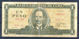 459-Cuba Billet De 1 Peso 1986 DA15 - Cuba