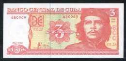 355-Cuba Billet De 3 Pesos 2004 FA-28 Che Guevara Neuf - Cuba