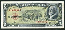 269-Cuba Billet De 5 Pesos 1960 P067A - Cuba