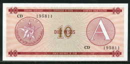 47-Cuba Billet De 10 Pesos 1985 CD Série A Neuf - Cuba