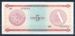 499-Cuba Billet De 5 Pesos 1985 AC123 Série A - Cuba