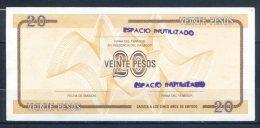 499-Cuba Billet De 20 Pesos FA083 Série D Surchargé - Cuba