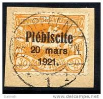 UPPER SILESIA 1921 Plebiscite Overprint On 30 Pfg. Used.  Michel 34 - Germany