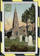 JERSEY. - . L'EGLISE ST. PIERRE. SAINT PIERRE. CARTE COULEUR CIRCULEE EN 1909 - Jersey