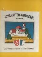 4481 - Johanniter-Kommende Landwirtschaft Schule Ecole D'agriculture Hohenrain Lucerne Suisse - Etiquettes